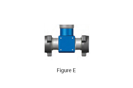 Figure E: 4 inch 1002 Integral Fitting TEE with a 4 inch 1002 Male x 4 inch 1002 Male Run and a 4 inch 1002 Female Branch