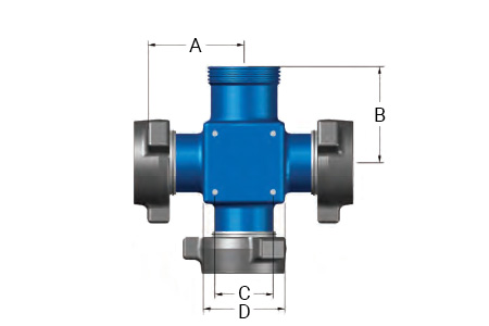 4 inch 1002 and 1502 High Pressure Integral Fittings Cross
