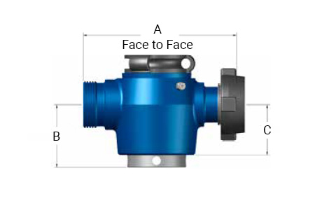 TSI Flow Products Manual Plug Valve with a 1502 Connection