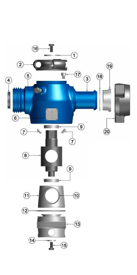 TSI Flow Products Plug Valve Parts Breakdown