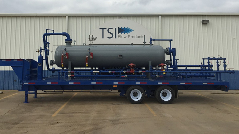 Custom TSI Flow Products 3 phase separator trailer