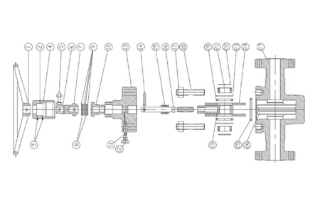 CIW F & FC Manual Gate Valve Exploded View